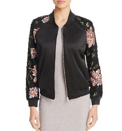 Floral Sequin Bomber Jacket by Endless Rose in Pitch Perfect 3
