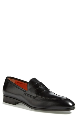 'Will' Penny Loafers by Santoni in Suits