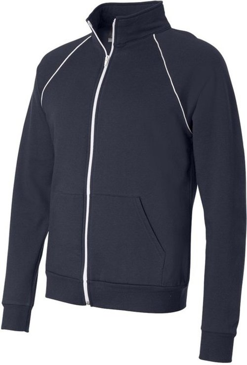 Canvas Men's Contrast Piping Zipper Track Jacket by Bella in The Town