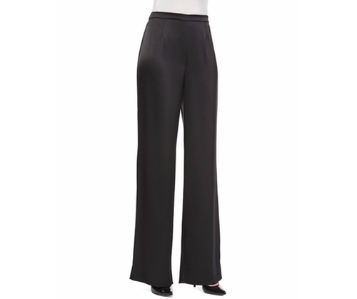 Kate Satin Wide-Leg Pants by St. John Collection in The Boss