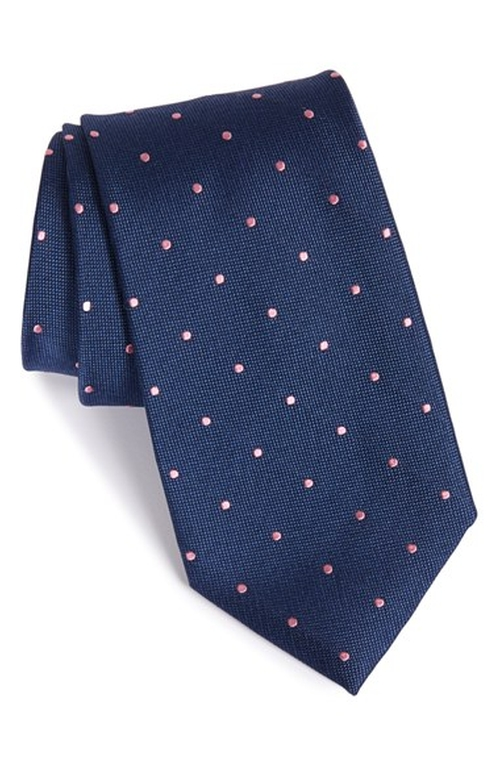 Polka Dot Silk Tie by Nordstrom in Love Actually