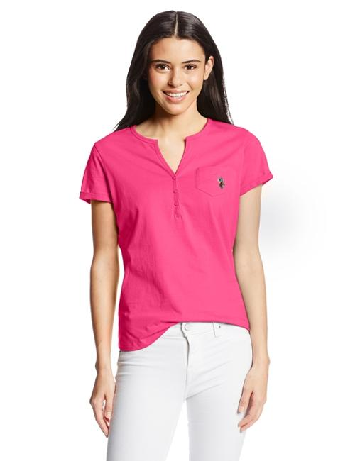Women's Short Sleeve Henley Top by U.S. Polo Assn. in We're the Millers