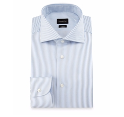 Trofeo Double-Stripe Dress Shirt by Ermenegildo Zegna in Ballers