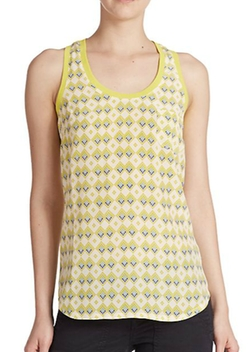 Alicia Printed Silk Racerback Tank Top by Joie in Modern Family