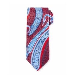 Paisley-Print Silk Tie by Ermenegildo Zegna in Gold
