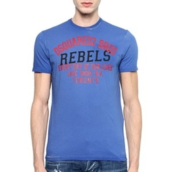 Rebels Printed Surf Fit Cotton T-Shirt by DSquared2 in Ballers