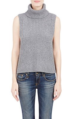 Turtleneck Sleeveless Sweater by Barneys New York in Suits