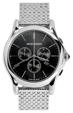 Chronograph Bracelet Watch by Emporio Armani Swiss Made in Spy