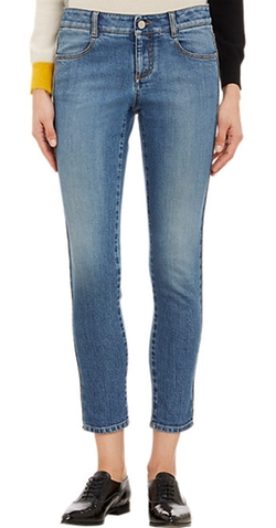Chain-Seam Skinny Jeans by Stella Mccartney in The Second Best Exotic Marigold Hotel