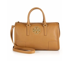 Britten Leather Satchel Bag by Tory Burch in Mistresses