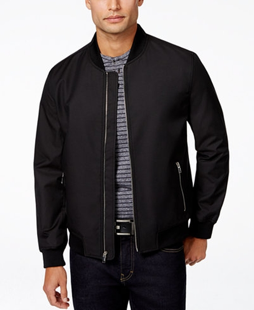 Men's Ribbed Bomber Jacket by Alfani in Straight Outta Compton