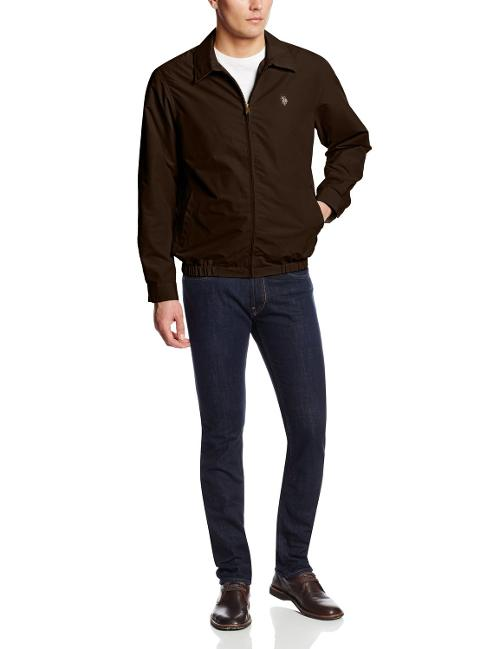 Men's Micro Golf Small Pony Jacket by U.S. Polo Assn. in Into the Storm