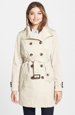 Double Breasted Trench Coat with Detachable Liner by London Fog in Pitch Perfect 2