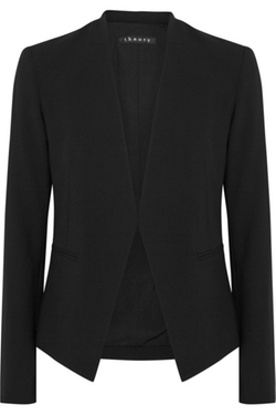 Lanai Stretch-Wool Blazer by Theory in Quantico