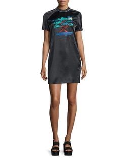 Bonsai-Embroidered Silk Varsity Dress by Opening Ceremony in Mistresses