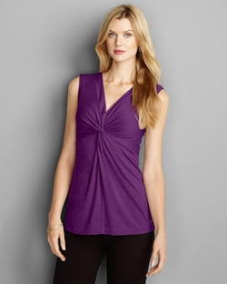 Women's Girl On The Go Sleeveless Twist V-Neck Top by Eddie Bauer in The Flash