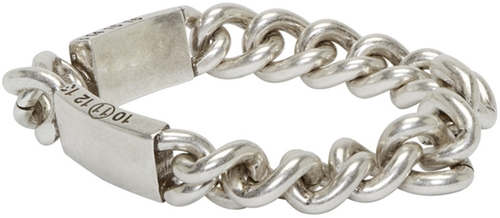 Silver Tarnished Chain Bracelet by Maison Margiela in Life