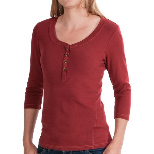 Kickback Micro-Rib Henley Shirt by Royal Robbins in The Ranch -  Looks