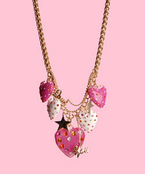 Multi Rhinestone Heart Pendant Necklace by Betsey Johnson in High School Musical 3: Senior Year