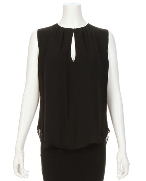Abella Sleeveless Shirred Keyhole Top by L'Agence in Suits - Season 5 Episode 8