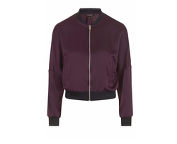Dolman Sleeve Satin Bomber Jacket by Topshop in The Flash
