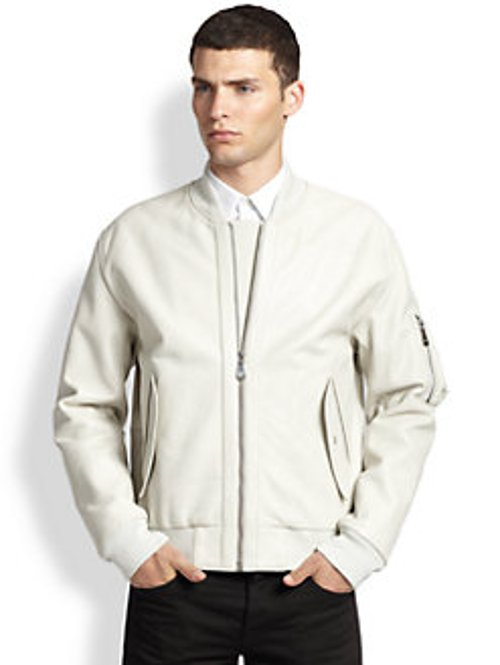 Leather Bomber Jacket by McQ Alexander McQueen in Crazy, Stupid, Love.