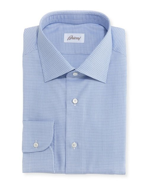 Micro-Check Cotton Shirt by Brioni in The Gunman