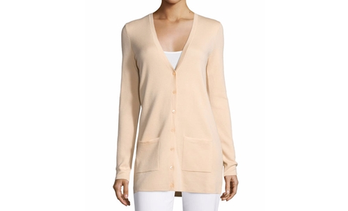 Cashmere Button-Front Cardigan by Michael Kors Collection  in Keeping Up With The Kardashians - Season 12 Episode 16