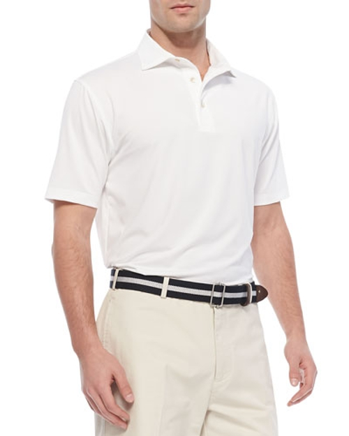 Performance E4 Solid Polo Shirt by Peter Millar in McFarland, USA