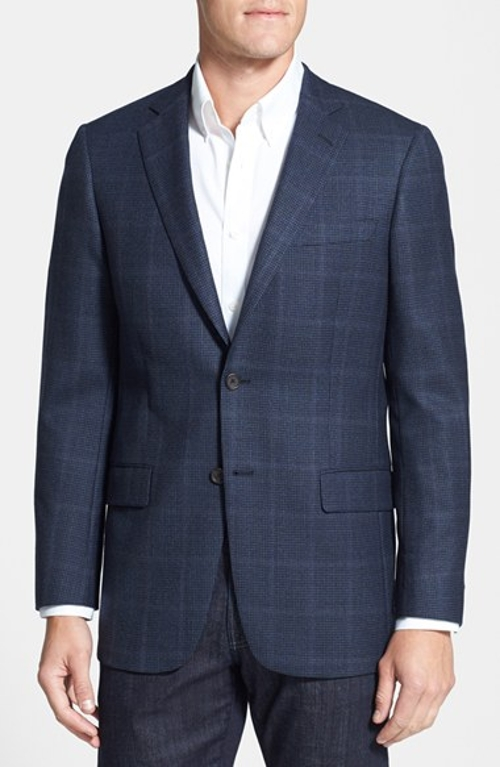 New York Classic Fit Check Sport Coat by Hart Schaffner Marx in The Overnight