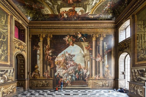 Old Royal Naval College Painted Hall Greenwich, London in Cinderella