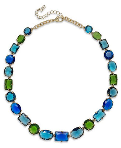 Gold-Tone Multicolor Collar Necklace by ABS by Allen Schwartz in Pitch Perfect 2