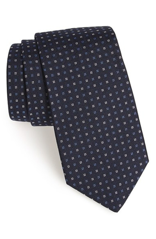 Geometric Silk Tie by Gitman in Elementary - Season 4 Episode 4