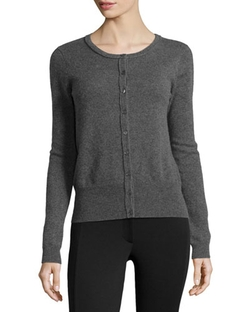 Cashmere Button-Front Cardigan by Neiman Marcus in Supergirl