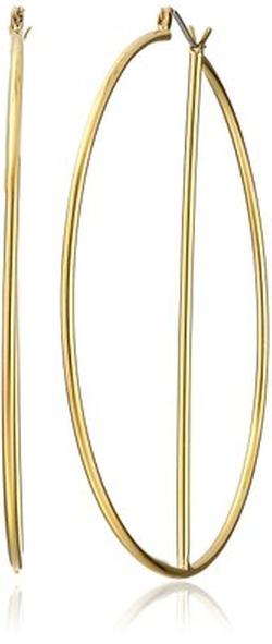 Gold-Plated Hoop Earrings by Trina Turk in Pretty Little Liars
