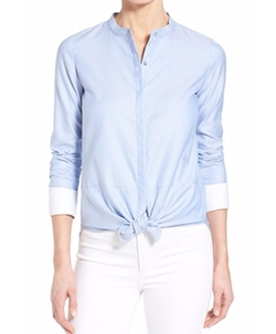 Cotton Oxford Shirt by Olivia Palermo + Chelsea28 in Bridget Jones's Baby