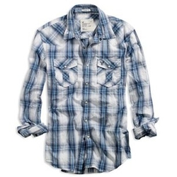 Plaid Button Down Shirt by American Eagle in Pitch Perfect 2