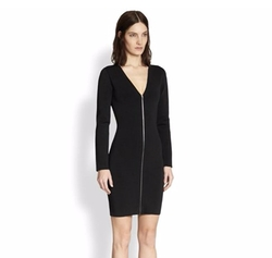 Zip Front Long-Sleeve Dress by Alexander Wang in Suits