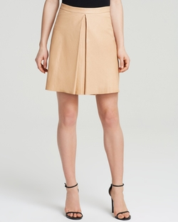 Russo Leather Inverted Pleat Skirt by Alice + Olivia in Scream Queens
