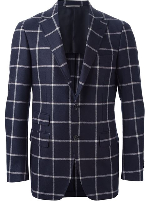 Windowpane Check Blazer by Canali in Black-ish - Season 2 Episode 5