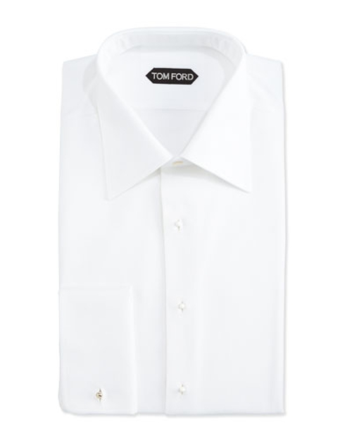 Textured Woven Tuxedo Shirt by Tom Ford in Southpaw