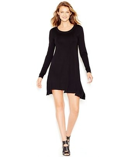 Long-Sleeve Scoop-Neck T-Shirt Dress by Kensie in My All American