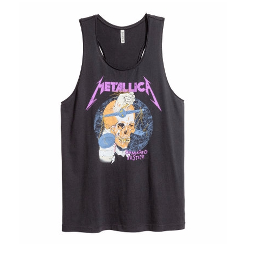 Metallica Tank Top by H&M in The Fate of the Furious