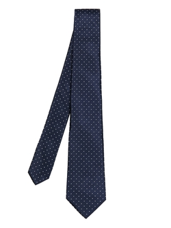 Dot-Jacquard Silk Tie by Lanvin in Supergirl