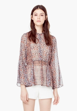 Floral Printed Blouse by Mango in The Vampire Diaries