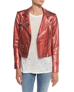 Axelle Leather Jacket by Iro in Animal Kingdom