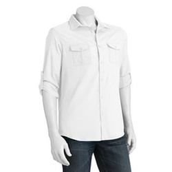 Slim-Fit Casual Button-Down Shirt by Marc Anthony in Sisters