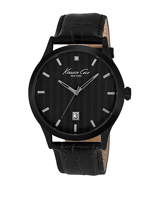 Leather Strap Three-Hand Watch by Kenneth Cole in Sixteen Candles