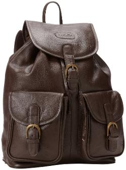 Leather Backpack with Pockets by Leatherbay in New Year's Eve