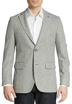 Herringbone Wool Sportcoat by Gant in Master of None